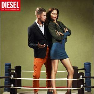 Diesel Dresses - Diesel denim long sleeve tshirt dress